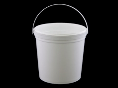 PAIL Plastic White with Lid 10L