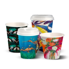 Cup BIO ART SERIES S/WALL BC-4-ART 4oz Coffee x 2000