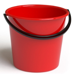 Bucket  9L ROUND PLASTIC Bundle of 12