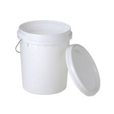 PAIL Plastic White with Lid 20L