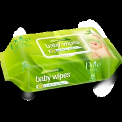 Cloths Pure BABY WIPES Un-scented (BW80) 80's
