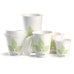 Cup BIOPAK Leaf 12oz WHITE Coffee x 1000